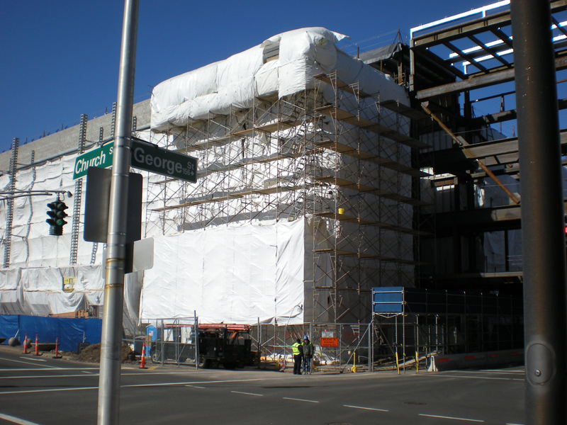 Construction Tarps on Jobsite - Super FR Tarp